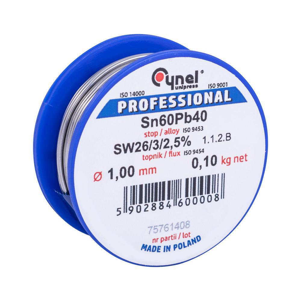 Припой Сynel Sn60Pb40-SW26 1.00 мм 100 г