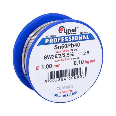 Припой Сynel Sn60Pb40-SW26 1.00 мм 100 г, фото 2