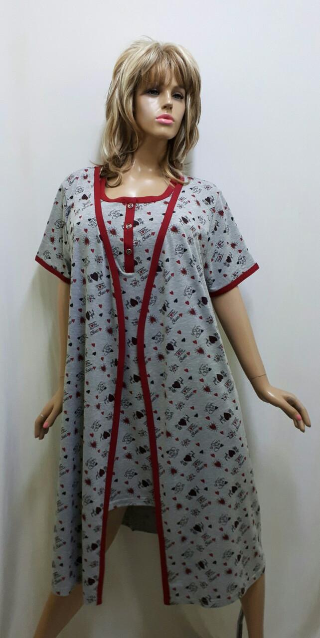 Комплект халат и ночная рубашка 418, фото 1