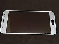 Дисплейный модуль б/у amoled Samsung J330 Galaxy J3 2017 GH96-10992A silver blue оригинал