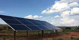 3 рядная система креплений для СЭС  на 30 кВт с изменяемым уголом