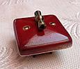 Фарфоровый ретро выключатель поворотный, перекрестный для скрытого монтажа Deep purple, фото 4