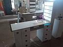 Профессиональный маникюрный стол с бактерицидной лампой УФ-лампой, подсветкой и вытяжкой, фото 9