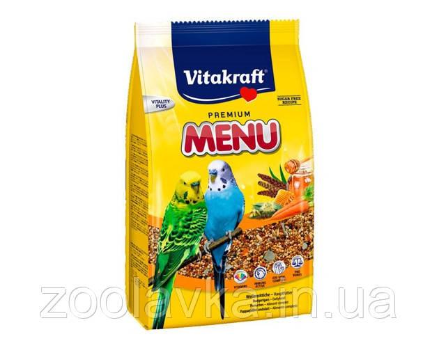 Vitakraft Menu Jod Vital Complex для волнистых попугаев с медом 500г
