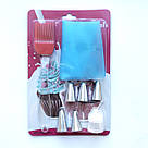Cиликоновый кондитерский мешок с насадками (5 шт) + кисточка, фото 2