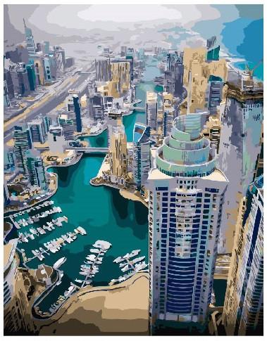 Картина по номерам Дубай, 40x50 см., Brushme