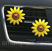 Автомобільний освіжувач повітря квіточка смайл 2 виду + таблетка пахучка