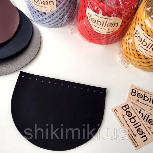 Крышка для сумки полукруглая из эко-кожи, цвет черный