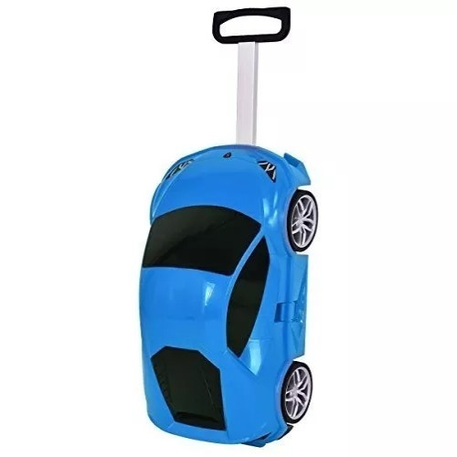 Детский чемодан-машина СИНИЙ арт. 1214