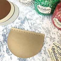 Крышка для сумки полукруглая из эко-кожи (20*15), цвет золото