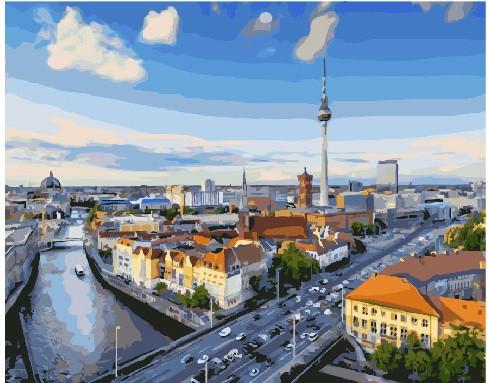 Картина по номерам Вид на Берлин, 40x50 см., Brushme