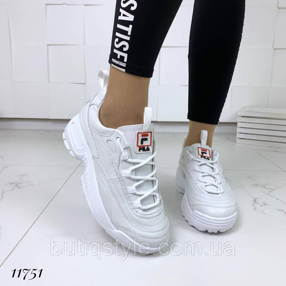 Кроссовки = FiL_S= белыена платформе натуральная кожа 2019
