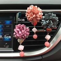 Автомобильный освежитель воздуха цветочек мягкий 3 цвета + таблетка пахучка , фото 1