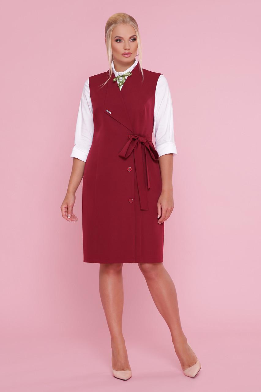 Женское платье-жилет Большие размеры XL, XXL, XXXL