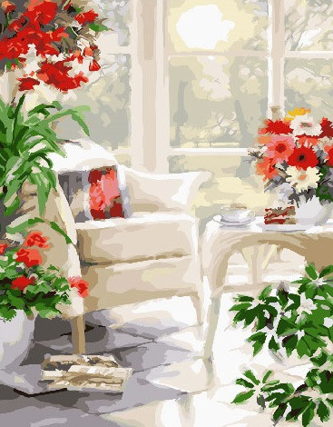 Картина по номерам Домашний оазис, 40x50 см., Brushme