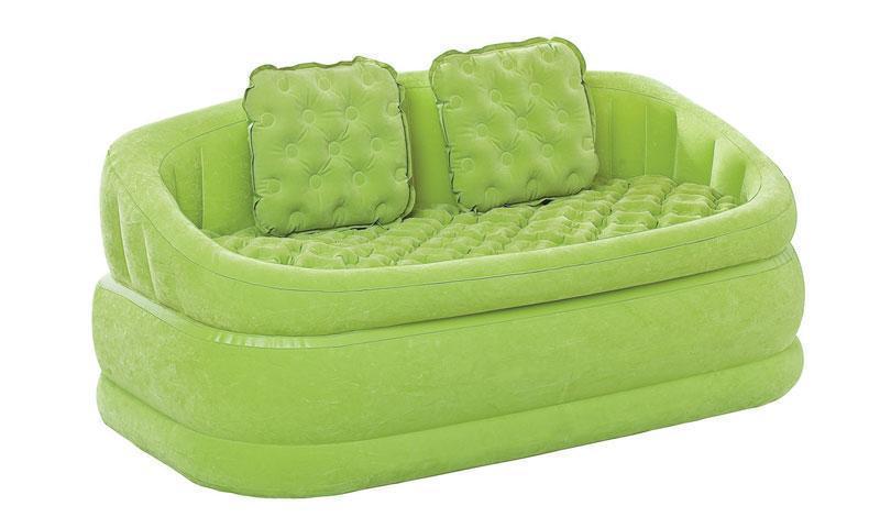 Надувной диван Intex 157х86х69 см (салатовый) (68573)