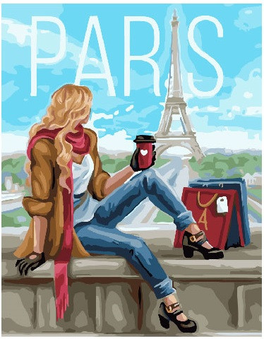 Картина по номерам Шопинг в париже, 40x50 см., Brushme