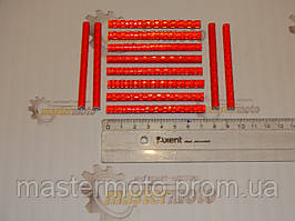 Элемент красный светоотражающий на спицы велосипеда, 12шт. к-т