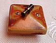 Порцеляновий ретро вимикач поворотний 2-клавішний, для прихованого монтажу Мідь, фото 4