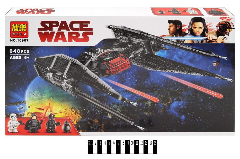 Конструктор Bela Space Wars Винищувач СІД Кайло Рена 10907, 648 дет. Зоряні війни
