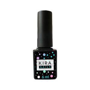 Kira Nails No Wipe Top Coat, закрепитель для гель-лака без лс, 6 мл