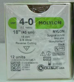 Monofilament Polyamide Sutures - Nylon хірургічний шовний матеріал