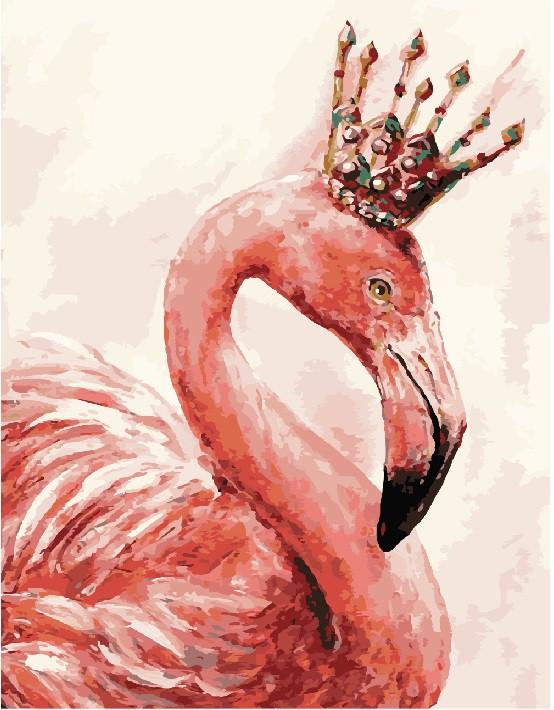 Картина по номерам Королевский фламинго, 40x50 см., Brushme