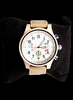 Деревянные наручные часы ручной работы WoodenWatch Comandor Бежевые