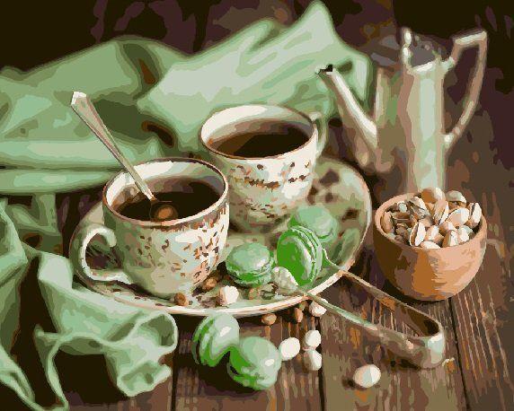 Картина по номерам Мятное чаепитие, 40x50 см., Brushme