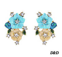 Серьги в стиле Dolce&Gabbana цветы