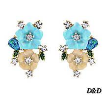 Серьги гвоздики в стиле Dolce&Gabbana цветы