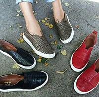 Кожаные слипоны мокасины балетки для девочки подростка размер 32-41 детская кожаная обувь весна лето осень