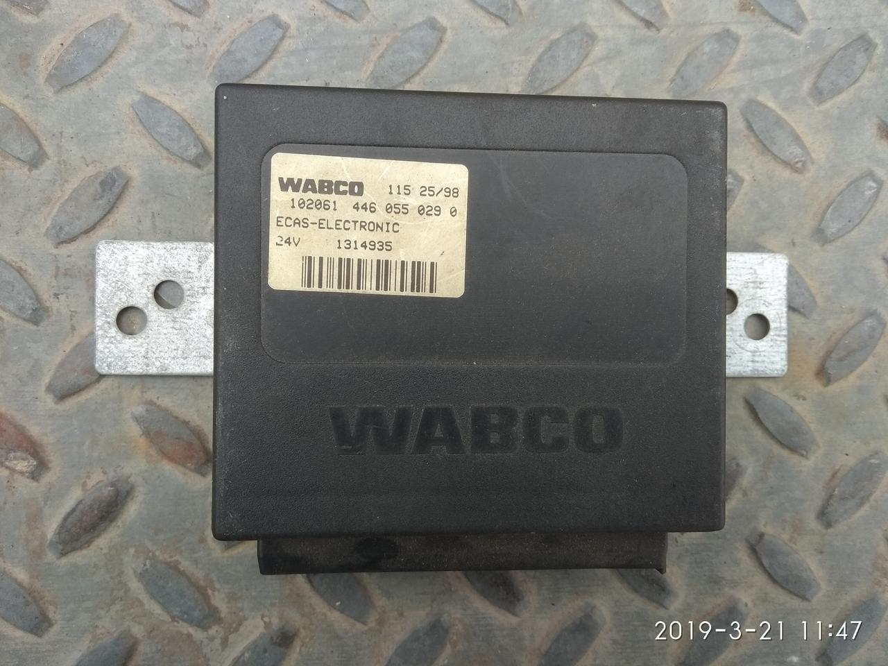 Блок управления пневмоподвеской DAF ECAS 4460550290 WABCO, на 25 пинов