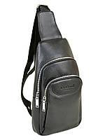 Мужская сумка через плечо Dr.Bond 1102 рюкзак/бананка на плечо черная кожзам