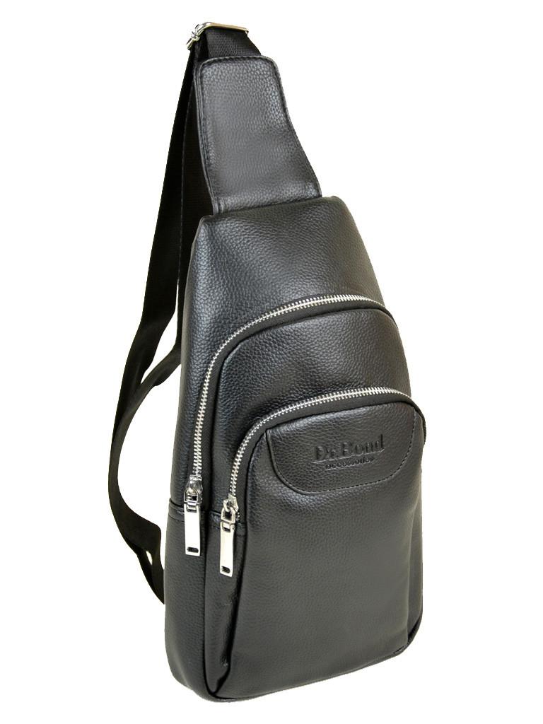 9998a48030f9 Мужская сумка через плечо Dr.Bond 1102 рюкзак/бананка на плечо черная кожзам
