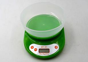 Весы кухонные до 5кг с чашей и дисплеем. DT-01