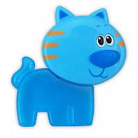 """BABY MIX Прорезыватель для зубов гелевый """"Котик"""" голуб."""