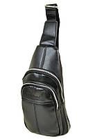 Мужская сумка через плечо Dr.Bond 1105 мини рюкзак/бананка на плечо черная кожзам