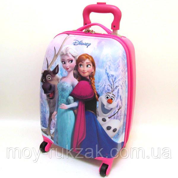 Детский чемодан дорожный на колесах «Анна и Эльза» Frozen-16