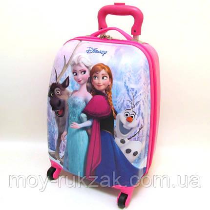 Детский чемодан дорожный на колесах «Анна и Эльза» Frozen-16, фото 2