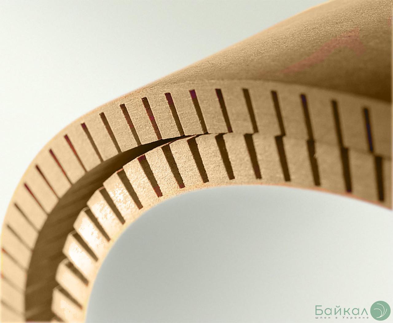 МДФ гибкий с прорезью 8 мм - 2,85х1,03 м - продольное кручение