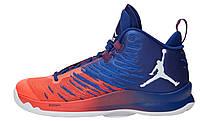 Мужские кроссовки Nike Air Jordan Super Fly 5 Red Blue (найк аир джордан суперфлай, красные/синие)