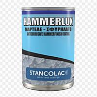 Молоткова швидковисихаюча фарба по металу і дереву Hammerlux Stancolac, банку 2,5 л