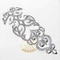 Термоклеевые лейсы, цвет Silver, размер 30х11см, 1 шт