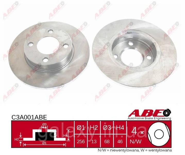 Тормозной диск передний  AUDI 100, AUDI 100 AVANT 1.6-2.1 06.1976 - 10.1991