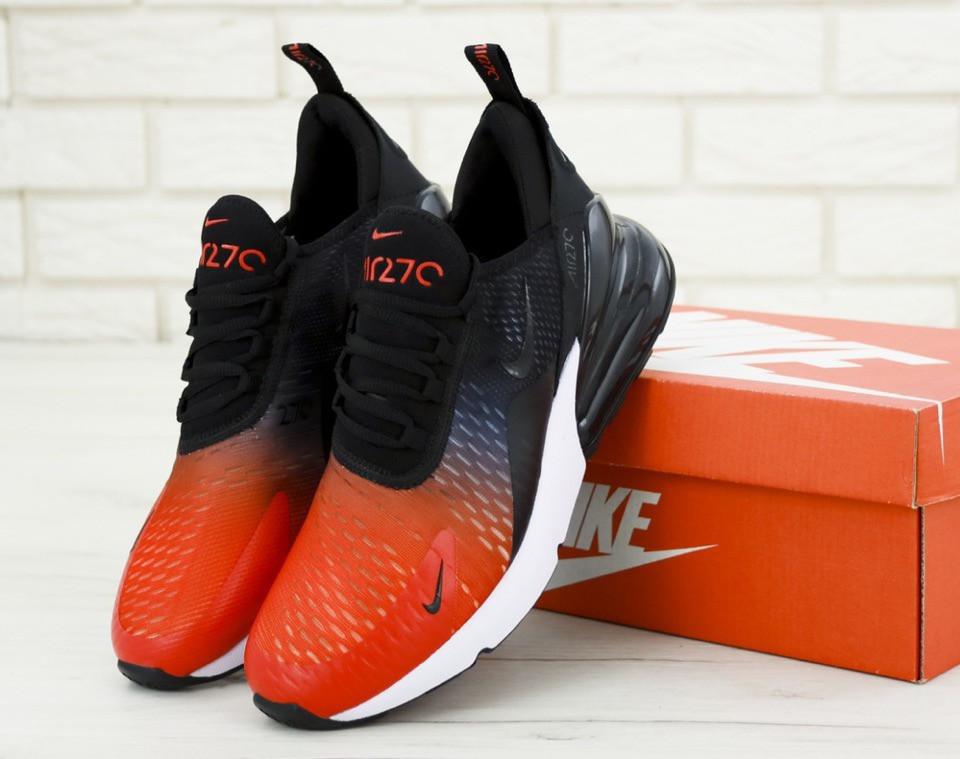 442377f4 Кроссовки мужские Nike Air Max 270 Black/Blue/Red Реплика - Work Hard Shop