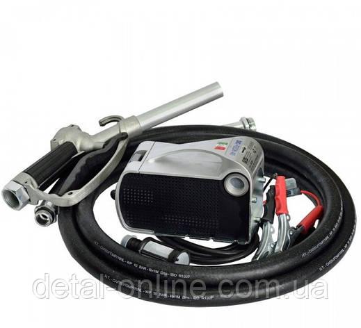 LIGHT TECH насос для ДТ, 12В, 40л/мин. рукав напорный 4м, механический кран, фото 2