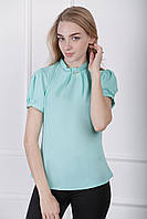 Блузка с коротким рукавом «Агата»| Мятный 42, 44, 46 р-р, фото 1