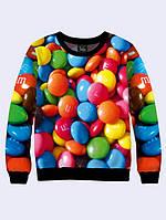Кофта женская свитшот с изображением конфет M&M's