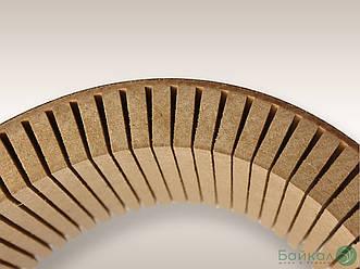 Гнучка МДФ плита з прорізом 10 мм 2,85х1,03 м - поздовжнє кручення